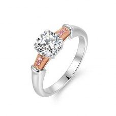 Lydia Diamond Engagement Ring Casing 18K White Gold