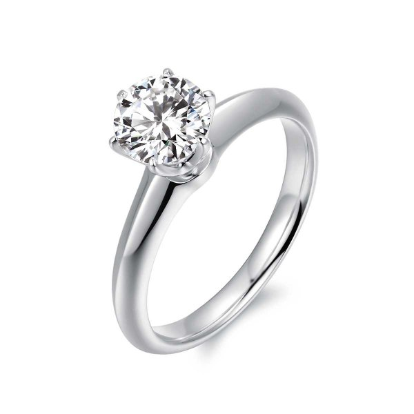 Rexie Solitaire Engagement Ring Casing 18K White Gold