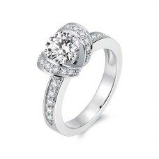 Talia Diamond Engagement Ring Casing 18K White Gold