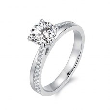 Tasha Diamond Engagement Ring Casing 18K White Gold