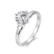 Frances Diamond Engagement Ring Casing 18K White Gold