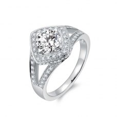 Fannia Diamond Engagement Ring Casing 18K White Gold