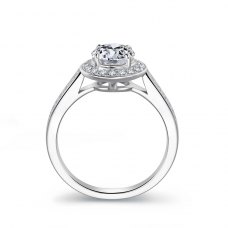 Caitlyn Diamond Engagement Ring Casing 18K White Gold