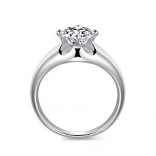 Tianna Solitaire Engagement Ring Casing 18K White Gold