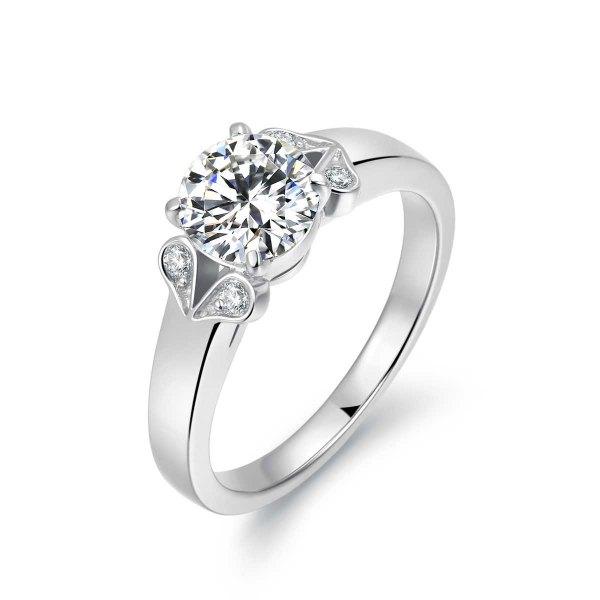 Lyvia Diamond Engagement Ring Casing 18K White Gold
