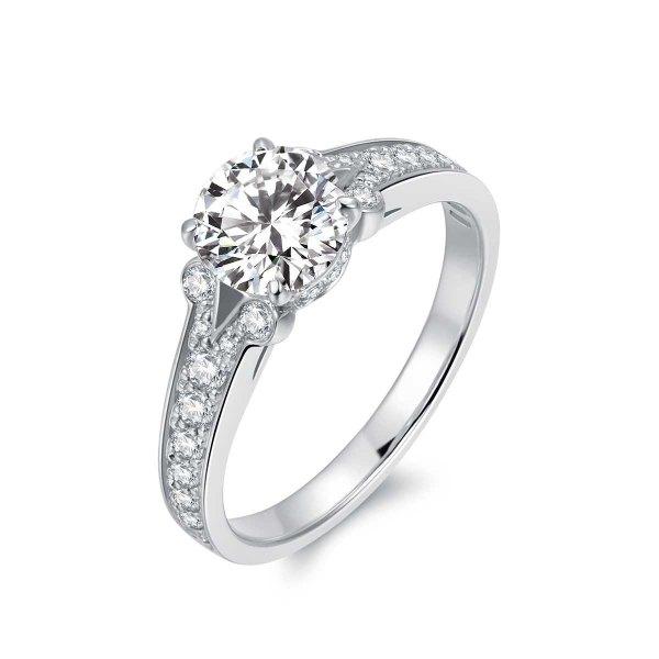 Kianna Diamond Engagement Ring Casing 18K White Gold