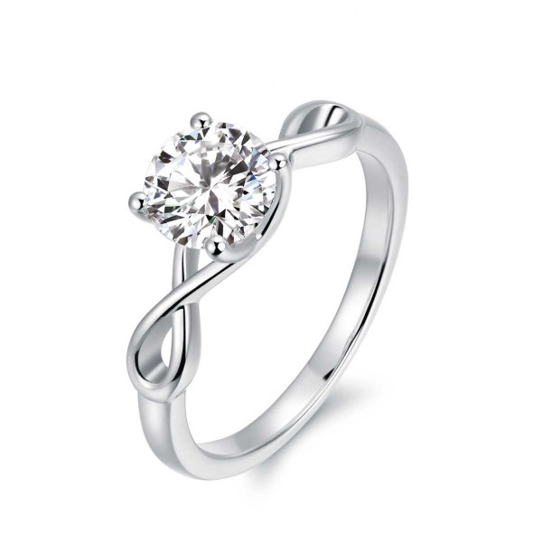Carrie Solitaire Engagement Ring Casing 18K White Gold