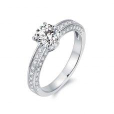 Lawrie Diamond Engagement Ring Casing 18K White Gold