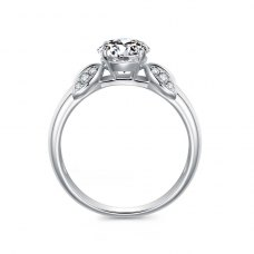 Arnia Diamond Engagement Ring Casing 18K White Gold