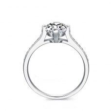 Karli Diamond Engagement Ring Casing 18K White Gold