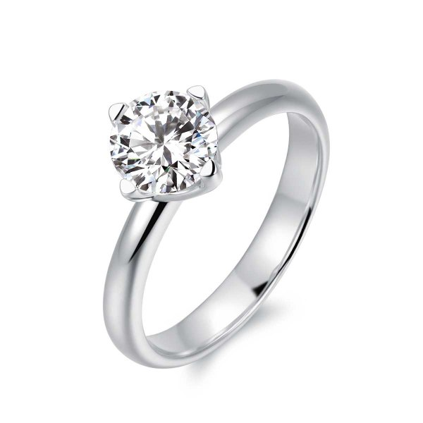 Zoya Solitaire Engagement Ring Casing 18K White Gold