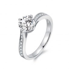 Kaila Diamond Engagement Ring Casing 18K White Gold