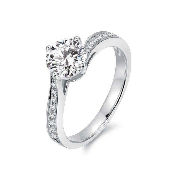 Kaila Diamond Engagement Ring Casing 18K White Gold