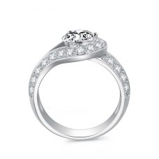 Alfie Diamond Engagement Ring Casing 18K White Gold