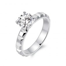 Sania Solitaire Engagement Ring Casing 18K White Gold