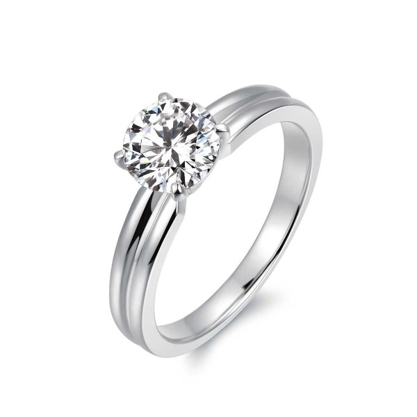 Saria Solitaire Engagement Ring Casing 18K White Gold