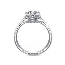 Kaia Solitaire Engagement Ring Casing 18K White Gold