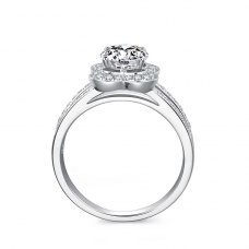 Ticia Diamond Engagement Ring Casing 18K White Gold