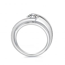 Tyria Diamond Engagement Ring Casing 18K White Gold