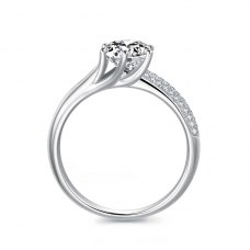 Teyria Diamond Engagement Ring Casing 18K White Gold