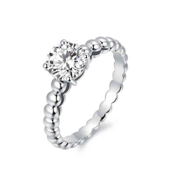 Tyriah Solitaire Engagement Ring Casing 18K White Gold