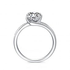 Darcie Diamond Engagement Ring Casing 18K White Gold