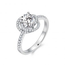 Darwin Diamond Engagement Ring Casing 18K White Gold
