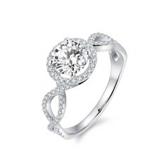 Leaniah Diamond Engagement Ring Casing 18K White Gold