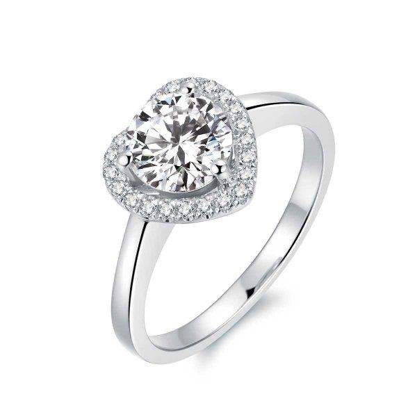 Avianne Diamond Engagement Ring Casing 18K White Gold