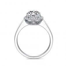 Avianne Diamond Engagement Ring Casing 18K White Gold