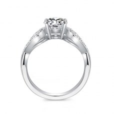 Aariz Diamond Engagement Ring Casing 18K White Gold