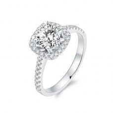 Liesha Diamond Engagement Ring Casing 18K White Gold