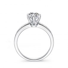 Mylia Diamond Engagement Ring Casing 18K White Gold