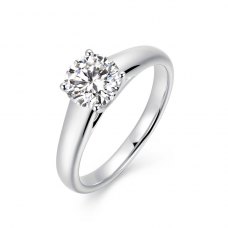 Elsia Solitaire Engagement Ring Casing 18K White Gold