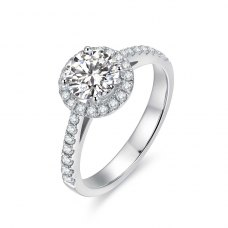 Maira Diamond Engagement Ring Casing 18K White Gold