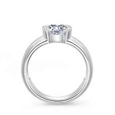 Mariah Solitaire Engagement Ring Casing 18K White Gold
