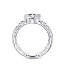 Kirsty Diamond Engagement Ring Casing 18K White Gold