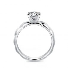 Kristie Solitaire Engagement Ring Casing 18K White Gold