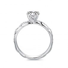 Kristine Diamond Engagement Ring Casing 18K White Gold