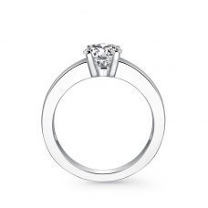 Tyrese Solitaire Engagement Ring Casing 18K White Gold