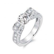 Niella Diamond Engagement Ring Casing 18K White Gold