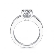 Raisa Solitaire Engagement Ring Casing 18K White Gold
