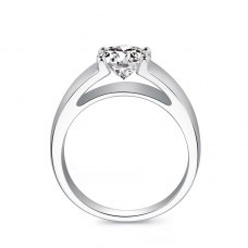 Corrie Solitaire Engagement Ring Casing 18K White Gold