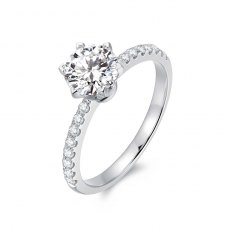 Chanice Diamond Engagement Ring Casing 18K White Gold