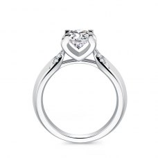 Embria Diamond Engagement Ring Casing 18K White Gold