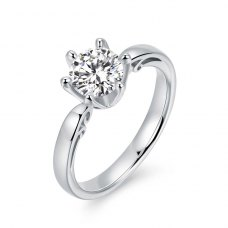 Zaynia Diamond Engagement Ring Casing 18K White Gold