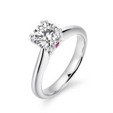 Miya Diamond Engagement Ring Casing 18K White Gold