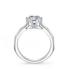 Lesley Solitaire Engagement Ring Casing 18K White Gold
