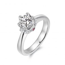 Faelia Diamond Engagement Ring Casing 18K White Gold