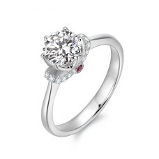Freylia Diamond Engagement Ring Casing 18K White Gold